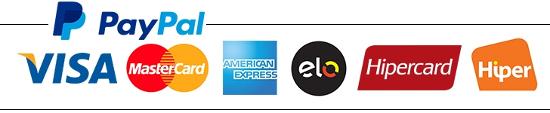 Logotipos de meios de pagamento do Paypal